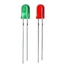 5mm Mixed Colors Leds pack, Green and Red colors (30 leds each color)