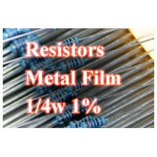 1 Ohm Metal Film Resistors 1/4W 1%. (Pack of 20)