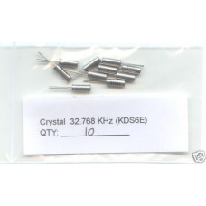 32.768KHz CRYSTALS. (Pack of 10)