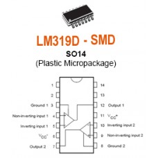 LM319D high speed comparators SMD SMT ICs (pack of 25)