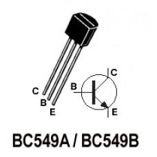 BC549 NPN Transistors. Pack of 25 Transistors.