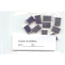 18.432MHz CRYSTALS. (Pack of 10)