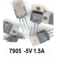 LM7905 -5V 1A NEGETIVE REGULATOR. (Pack of 10)