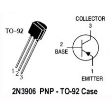 2N3906 PNP TO-92 Transistor. (25 Transistors Pack)