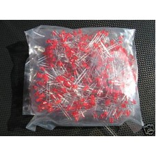 Red Leds 3mm (Light Emitting Diodes). Pack of 100 Leds.
