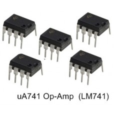 uA741 (LM741) Op-Amp 8-Pin Dip ICs. (10 pieces pack)