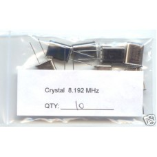 8.192MHz CRYSTALS. (Pack of 10).
