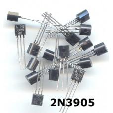 2N3905 PNP transistors. (Pack of 25 Transistors)