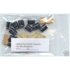 1000uF Electrolytic Capacitors 10V (10 Capacitors Pack)