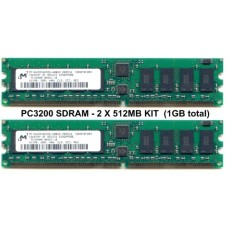 2 X 512MB (1GB in total) PC3200 400MHZ ECC REGISTERD RAM