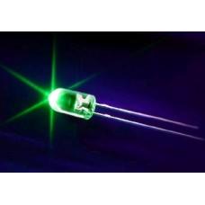 Green Leds 5mm (Light Emitting Diodes). Pack of 100 Leds.