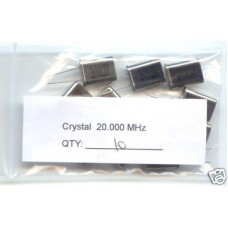 20MHz CRYSTALS. (Pack of 10).