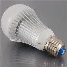 E27 base, 5W, Superbright White LED Bulb, Globe, 240 Volts,  50/60 HZ .