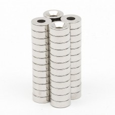 Rare Earth Neodymium Magnet N52 Disk Ring Hole Shape (5 magnets pack)