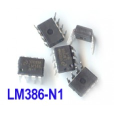 LM386 1W Low Voltage Audio Power Amplifier. 8pin DIP IC (pack of 5)
