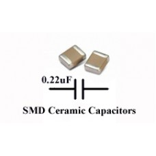SMD/SMT Ceramic Capacitor 0.22uF, TDK. (Pack of 50)