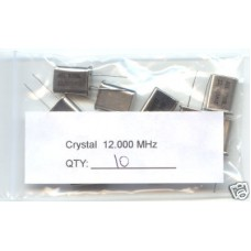 12MHz CRYSTALS. (Pack of 10).