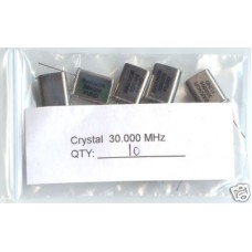 30MHz CRYSTALS. (Pack of 10)