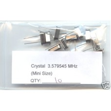 3.579545MHz CRYSTALS Small Size. (Pack of 10)