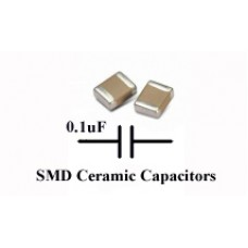 0.1uF Ceramic Capacitor 1608 SMD/SMT. TDK. (Pack of 50)