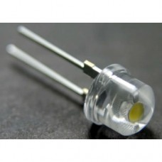 1W 8mm, wide angle 140° White LED 230,000mcd. (pack of 3).