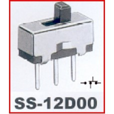 Off/On Small Toggle Switch 3 ways, SS12D00. (Pack of 5).