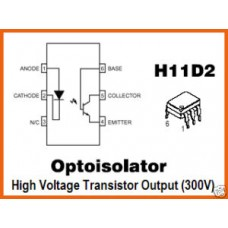 OPTOISOLATOR MOTOROLA H11D2 optocoupler ICs. Pack of 5.