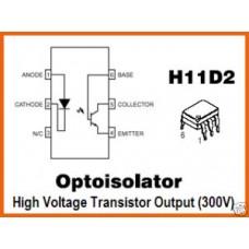 OPTOISOLATOR MOTOROLA H11D2 optocoupler ICs. Pack of 5.