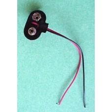 9V Battery Snap Connectors, 9 V clips T shape. Pack of 4.