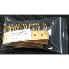 1uF 25V Tantalum Capacitors. Kemet. (Pack of 15).