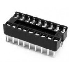 IC sockets for 18 pins DIP ICs, solder type. (Pack of 10)