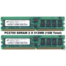 2 X 512MB (1GB total) PC2700 333Mhz DDR ECC REGISTERD RAM 184pin
