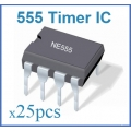 555 TIMER ICs 8-PIN DIP. (25 ICs pack). LM555/NE555/SA555