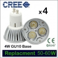 Pack of 4, CREE, 4W, 240V GU10, LED Downlight Bulbs. (Pack of 4)