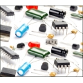 Assortment components, ICs, Transistors, Diodes, Resistors, Capacitors, LEDs, Regulators - 365 Components