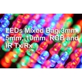 Mixed bag of 3mm, 5mm, and 10mm leds.