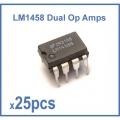LM1458 (MC1458 or LM1558) Dual Op-Amp 8-Pin Dip ICs Wholesale. (25 pieces pack)