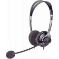 Stereo Headphones with Microphone for VOIP, Dictation, SKYPE, PC Gaming etc.